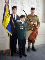 Dave Stubbs and son Daniel remembering the KSLI fallen