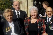 Harry Patch Memorial Service: St Petroc's Bodmin: Hazel Bennett, Russell Bennett, Wendy Joll, Neil Swanson. (Courtesy T. Joll)