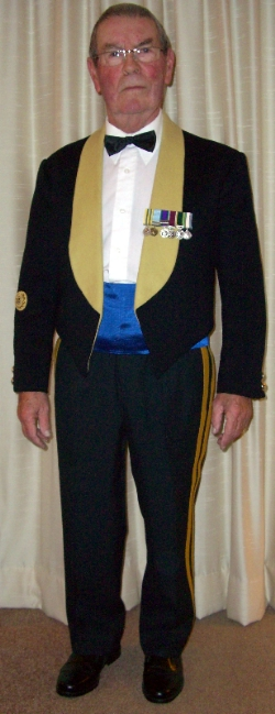 Bill Griffiths in 1970's Mess Kit.  Pix taken 2009, including shoes!
