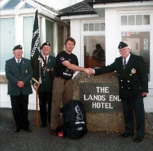 Gaz Watson Farewell at Lands End to Jon o Groats