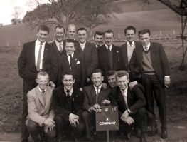4/5th Bn DCLI A Coy Penzance in 1960s. Back row, Chris Matthews, D Freeman,?,?,?.? ? ? ? Front row,? David Murley,Mike(Nobby) Clarke,? Graham Robertson