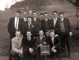 4/5th Bn DCLI A Coy Penzance in 1960s. Back row, Chris Matthews, D Freeman,?,?,?.? ? ? ? Front row,? David Murley,Mike(Nobby) Clarke,? Graham Robertson