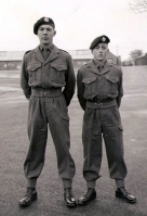 George Stevens and Neil Swanson 16th Intake Bodmin Depot, early 1954