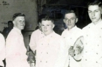 Regtl Ball 1953: Boys are 'volunteer' waiters from a Rifle Coy but can't remember any names