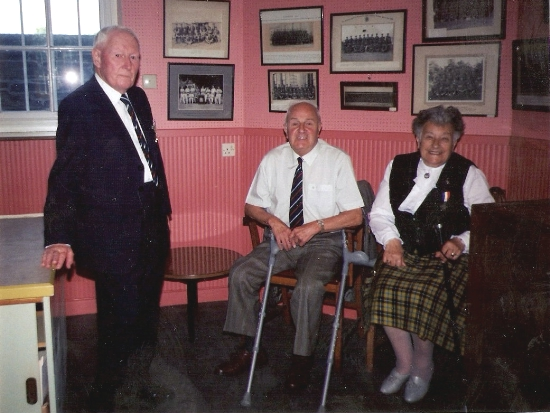 Friends of the RSM: Claud Marsdon, Ken & Joan Launder, taken at The Keep in the 80s, during Princess Alexandria's visit. Courtesy Neil Swanson.