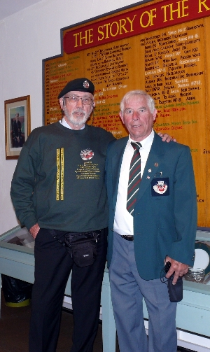 Ed & John Billett at Bodmin Regimental Museum June 2009
