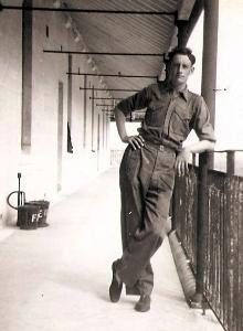 Cpl Joe Knight, 3 Platoon verandah, Bermuda 1954