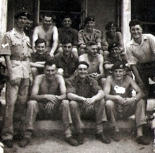 Cpl Ernie Smith left, others unknown