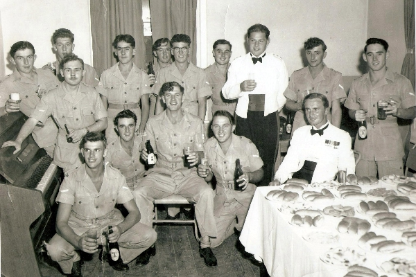 C.O. Major JA Marsh as guest of the Cpls Mess 1956, Prospect Garrison