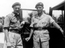 Major Tony Marsh and Driver, Cpl Barry Cornish 1955