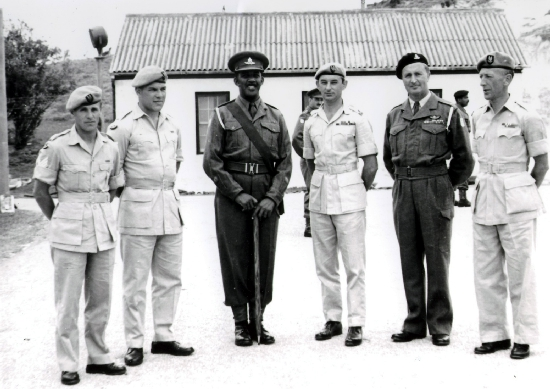 Warwick Camp, circa 1960.  SAS visiting Bermuda Regiment