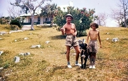 Mike Woolley, Simon Marsh and Sabre, Bermuda 1956