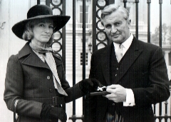Tony Marsh and sister Moira at Buckingham Palace