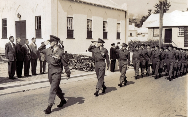 Possibly a Peppercorn Ceremony March Past. St Georges. circa 1956