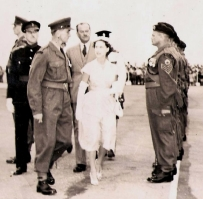 HRH Princess Margaret accompanied by Major AJ Marsh circa 1955