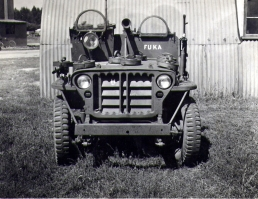 Major Tony Marsh's jeep in Belgium named after an Italian airfield
