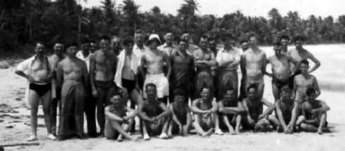 1DCLI Advance Party group in Jamaica 1954