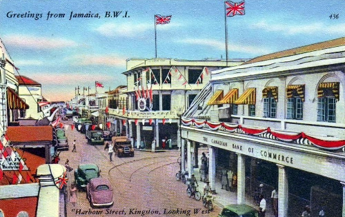 1950s Kingston postcard, sent home by Dave Hutchinson